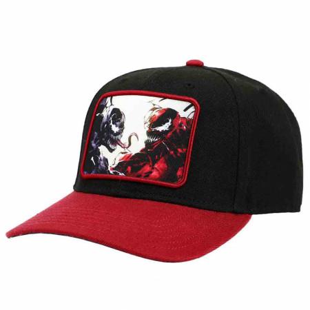 Marvel Comics Classic Venom vs Carnage Patch Pre-Curved Snapback Hat