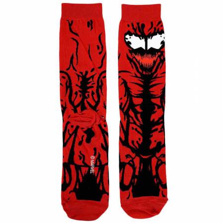Marvel Comics Carnage 360 Character Crew Socks