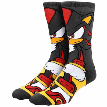 Sega Sonic The Hedgehog Shadow Character 360 Profile Crew Socks