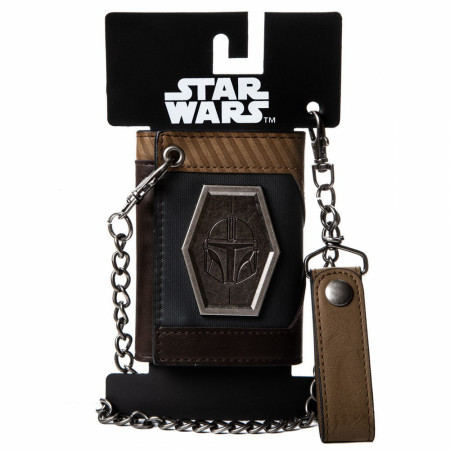 Star Wars The Mandalorian Helmet Symbol Chain Wallet