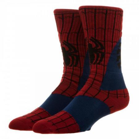 Marvel Comics Spider-Man Suit Up Costume Style Crew Socks