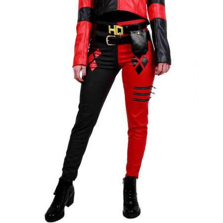 DC Comics Suicide Squad Harley Quinn Costume Cosplay Leggings