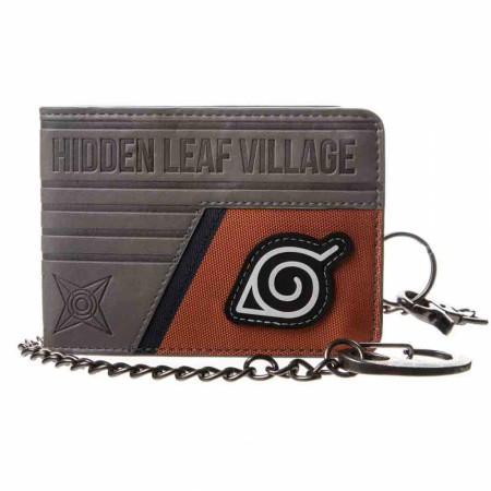 Naruto Shippuden Konohagakure Hidden Leaf Village Chain Wallet