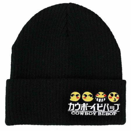 Cowboy Bebop Logo and Emoji Cuff Beanie