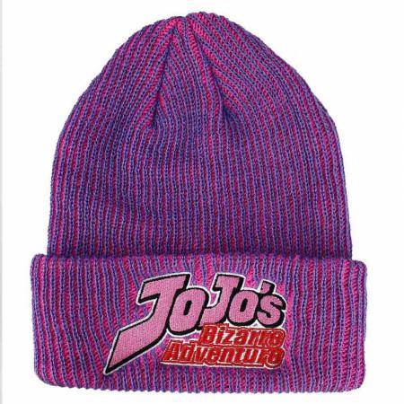 Jojo's Bizarre Adventure Logo Patch Cuff Beanie