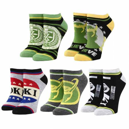 Marvel Studios Loki Series Political Campaign Ankle Socks 5-Pack