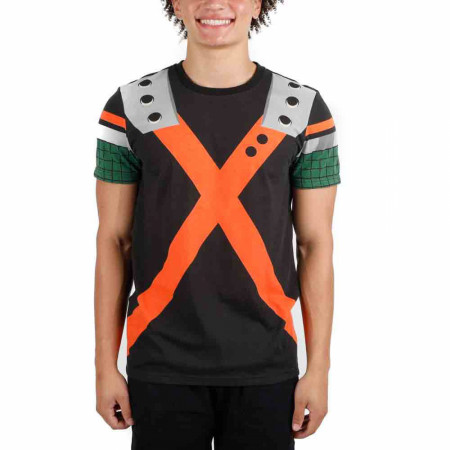 My Hero Academia Bakugou Katsuki Costume Cosplay T-Shirt