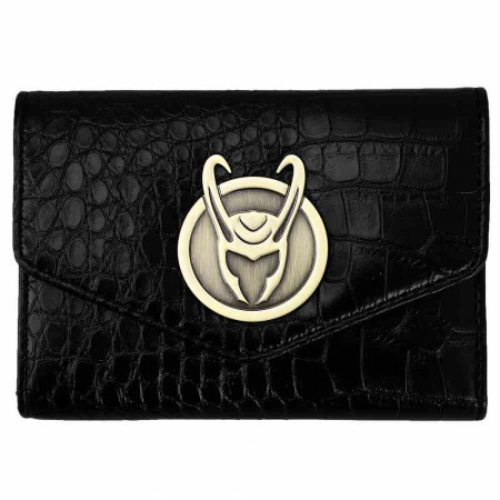 Marvel Comics Loki Series Badge Textured Bi-Fold Wallet