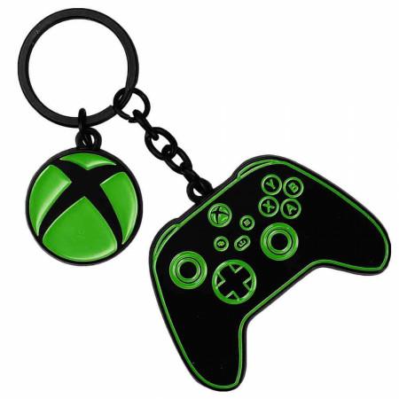 Microsoft Xbox Controller & Symbol Multi-Charm Keychain