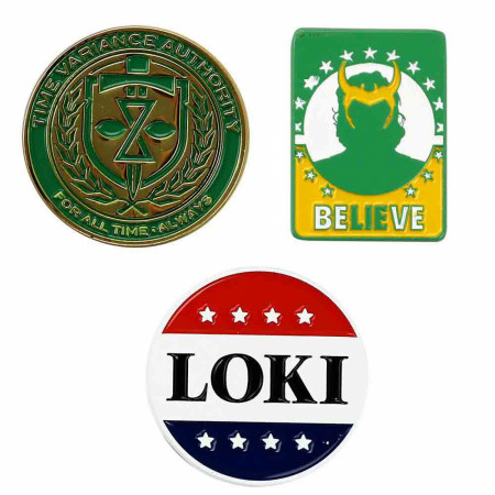 Marvel Studios Loki Time Variance Authority Lapel Pin Set