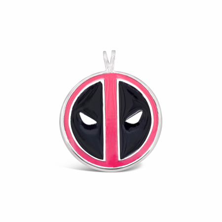 Deadpool Marvel Symbol Pendant- Pink