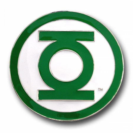 Green Lantern Belt Buckle Green Edge
