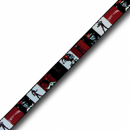 Harley Quinn Red White and Black Kids Web Belt