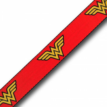 Wonder Woman Symbols Red Adult Web Belt