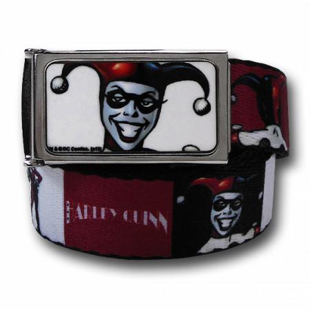Harley Quinn Red White and Black Kids Web Belt