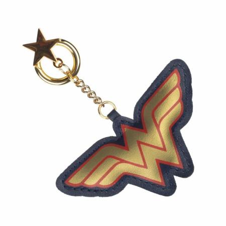 Wonder Woman Symbol and Charm Keychain