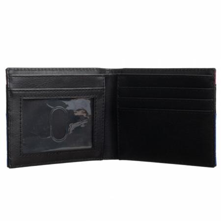 Superman Mixed Material Bifold Wallet