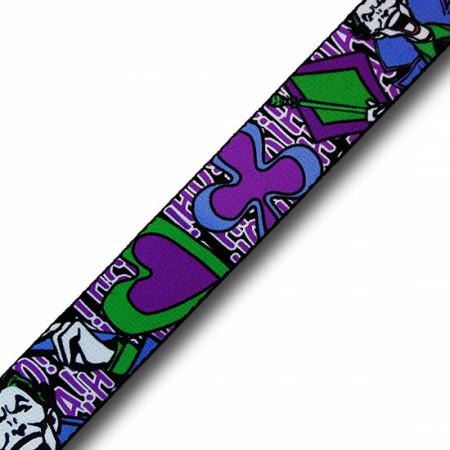Joker Classic Logo and Laughter Adult Web Belt