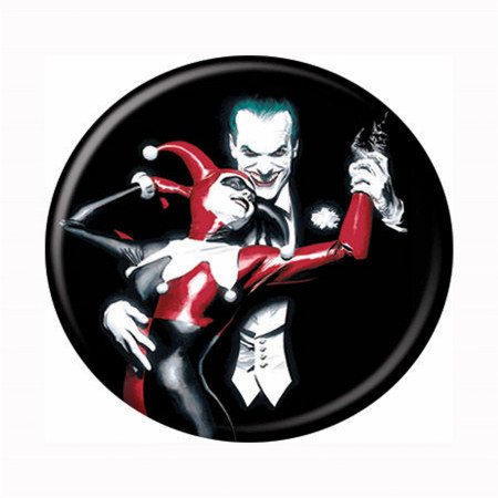 Joker and Harley Quinn Alex Ross Button