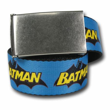 "Batman Logo Blue Web Belt- 1.5"" Adult"