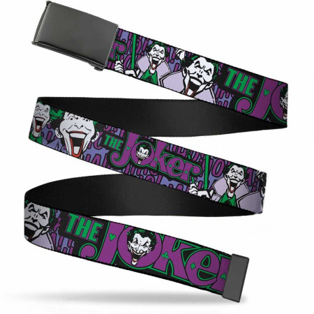 Joker Classic Logo and Laughter Adult Web Belt