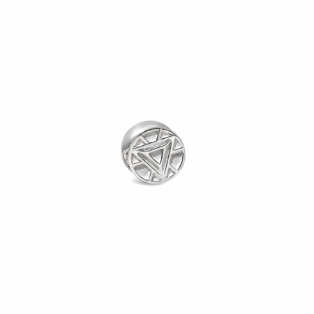 Tony Stark Iron Man Marvel ILY3000  Sterling Silver Bead