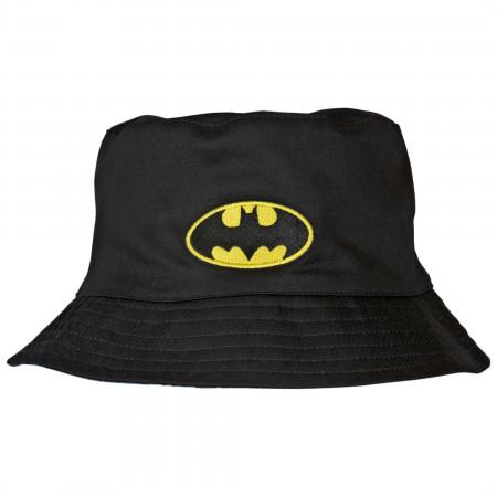 Batman Symbol Reversible Bucket Hat