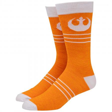 Star Wars Rebel Fighter Costume Logo Crew Socks