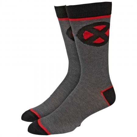 Marvel X-Men Symbol Crew Socks