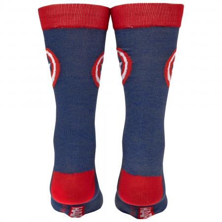Captain America Classic Shield Symbol Crew Socks