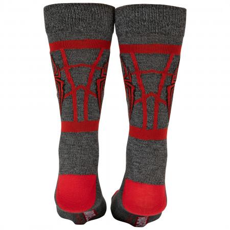 Ultimate Spider-Man Miles Morales Costume Symbol Crew Socks