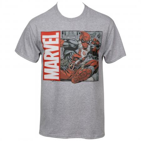 Marvel Deadpool Flying Kick T-Shirt