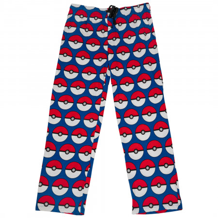 Pokemon Pokeballs All Over Print Pajama Sleep Pants