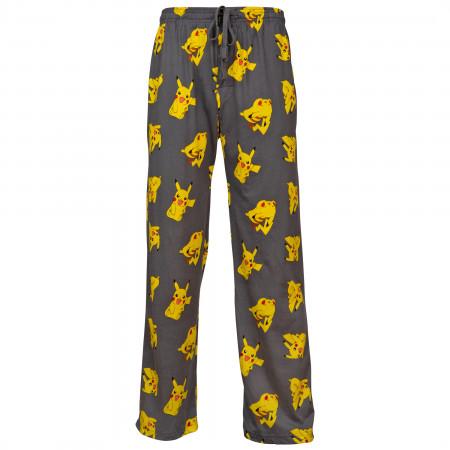 Pokemon Pikachu Character All Over Print Pajama Sleep Pants