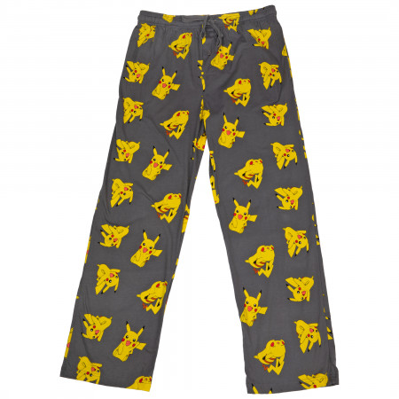 Pokemon Pikachu Character All Over Print Pajama Sleep Pants