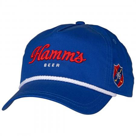 Hamm's Beer Roped Brim Adjustable Snapback Hat