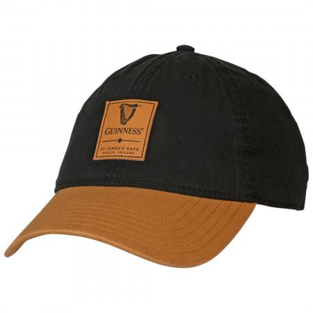 Guinness Leather Harp Emblem Patch Adjustable Hat