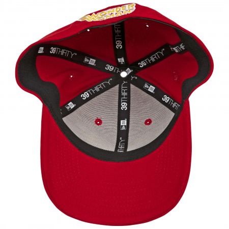 Wonder Woman Classic Symbol Color Block New Era 39Thirty Fitted Hat