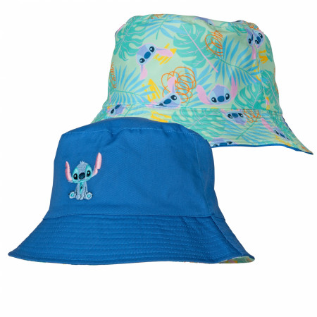 Disney Lilo and Stitch Character and Floral Print Reversible Bucket Hat