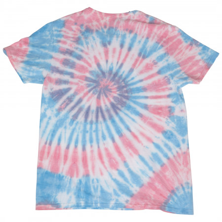 Wonder Woman Character Peace Love and Justice Tie Dye T-Shirt