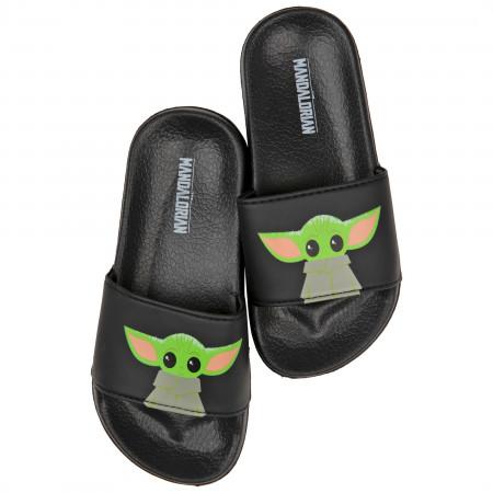 Star Wars The Mandalorian The Child Grogu Kids Slip Sandals