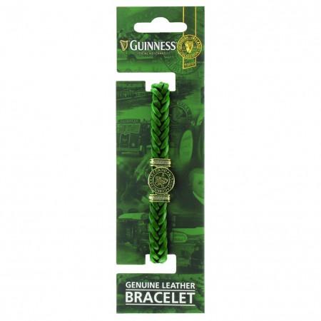 Guinness Ireland Green Leather Harp Bracelet