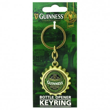 Guinness Ireland Bottle Cap Bottle Opener Keychain