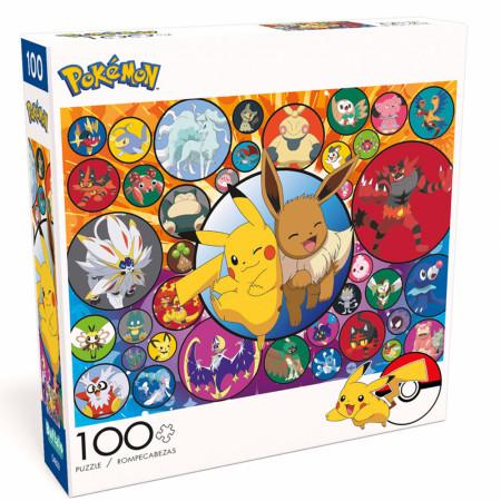 Pokemon Pikachu & Eevee and More 100-pc Buffalo Games Jigsaw Puzzle