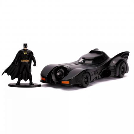 "Batman 1989 Classic Batmobile & Figure 5"" Diecast Metal Movie Car by Jada Toys"