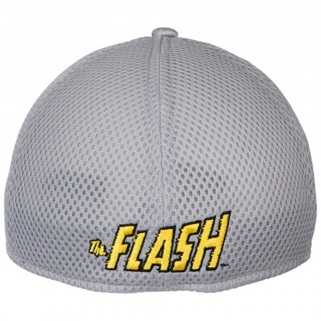 The Flash Symbol Grey Shadow Tech New Era 39Thirty Fitted Hat