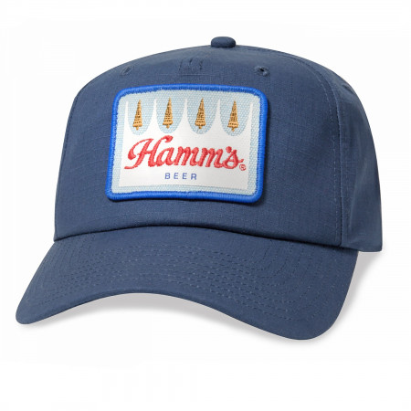 Hamm's Beer Logo Patch Blue Hat