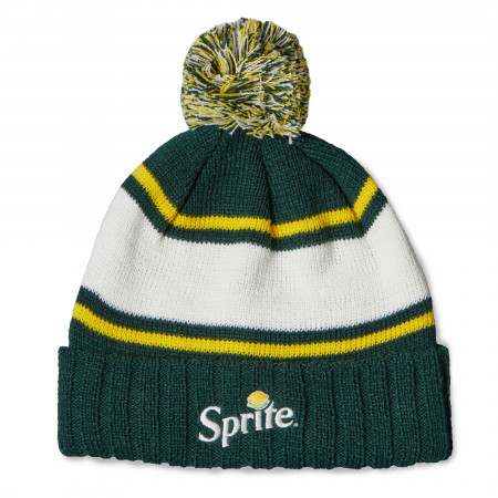 Sprite Pillow Line Knit Pom Beanie