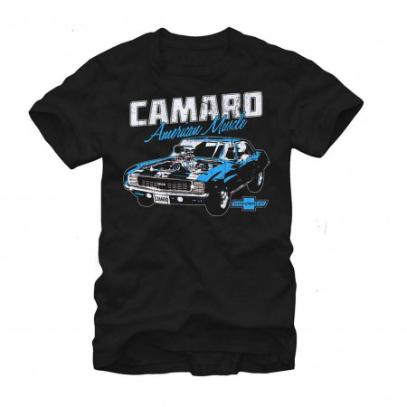 Chevrolet General Motors Classic Camaro Black T-Shirt