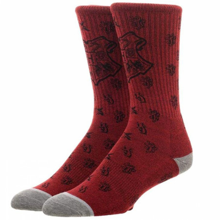 Harry Potter Hogwarts Water Print Men's Crew Socks